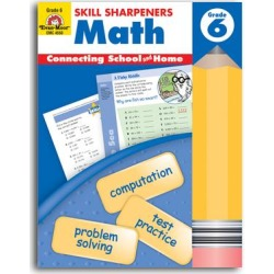 Evan-Moor Educational Publishers Educational Workbooks - Grade 6 Math Skill Sharpeners Workbook found on Bargain Bro India from zulily.com for $6.79