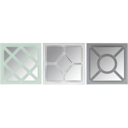Stratton Home Decor Set of 3 Tri-color Square Wall Mirrors - Stratton Home Décor S36927 found on Bargain Bro Philippines from totally furniture for $49.99
