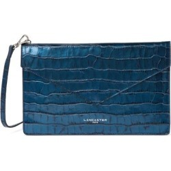 Exotic Croc Embossed Leather Crossbody Bag - Blue - Lancaster Shoulder Bags found on MODAPINS from lyst.com for USD $55.00