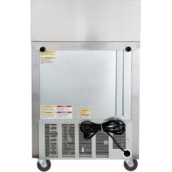 """Beverage Air SPE27-12M-B 27"""" 1 Door Mega Top Refrigerated Sandwich Prep Table"""