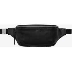 Classic Belt Bag In Soft Black Leather - Black - Saint Laurent Belt Bags found on Bargain Bro from lyst.com for USD $676.40