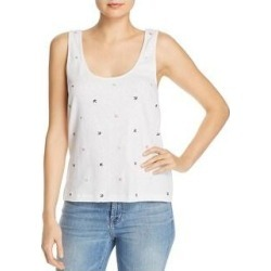 Splendid Womens Tank Top Emroidered U-Neck - Off White (S), Women's(cotton) found on Bargain Bro from Overstock for USD $15.65