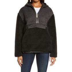 UGG Iggy Fleece Half Zip Hooded Pullover - Black - Ugg Sweats found on Bargain Bro Philippines from lyst.com for $119.00