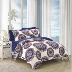Porch & Den Rothbury Navy Duvet Cover 3-piece Set found on Bargain Bro from Overstock for USD $36.09