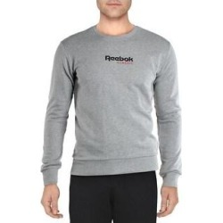 Reebok Mens Classic Gold Sweatshirt Fitness Running - Medium Grey Heather (S), Men's, Medium Gray Grey(cotton) found on Bargain Bro Philippines from Overstock for $25.69