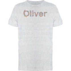 Oliver Flower Name Tee Men's -Image by Shutterstock (M), Women's, Gray found on Bargain Bro from Overstock for USD $11.39