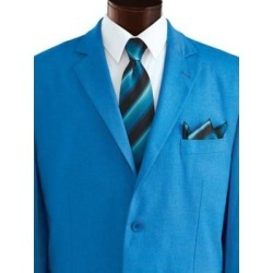 Men's Marquis Signature Tie & Pocket Square, Bright Blue found on Bargain Bro from Blair.com for USD $15.19