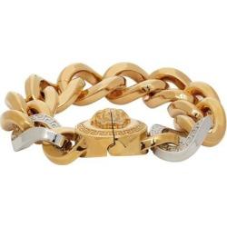 Gold & Silver Medusa Chain Bracelet - Metallic - Versace Bracelets found on Bargain Bro from lyst.com for USD $589.00