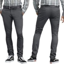 Dickies Men's Flex Skinny Straight Fit Work Pants (Charcoal CH - 38X32), Grey CH(cotton) found on Bargain Bro Philippines from Overstock for $34.13