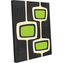 Retro Green Bubble Towers Canvas Wall Art found on Bargain Bro Philippines from Overstock for $212.95
