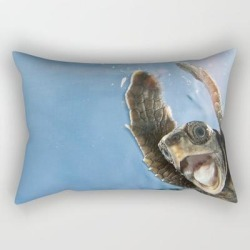 Rectangular Pillow | Screaming Turtle by Eric Cheng - Small (17