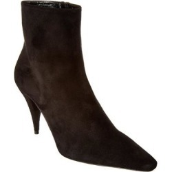 Saint Laurent Kiki 85 Suede Bootie (38), Women's, Multicolor found on Bargain Bro from Overstock for USD $459.79