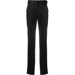Glitter Detail High-waisted Trousers - Black - Emporio Armani Pants found on MODAPINS from lyst.com for USD $184.00