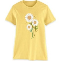 Women's Short-Sleeve Graphic Tee, Banana/Daisies S Misses found on Bargain Bro from Blair.com for USD $11.39
