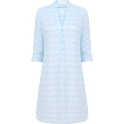 Linen Decima Dress- Guava Pale Blue - Blue - Pink House Mustique Dresses found on Bargain Bro from lyst.com for USD $180.12