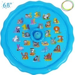 Splash Pads Sprinkler for Toddlers, Large Size 68