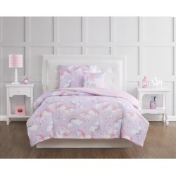 Porch & Den Myrica Unicorn and Rainbow 4-piece Comforter Set found on Bargain Bro from Overstock for USD $34.95