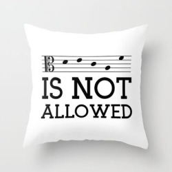 "Couch Throw Pillow | Decaf Is Not Allowed (alto Version) by A Musician On The Roof - Cover (16"" x 16"") with pillow insert - Indoor Pillow - Society6"