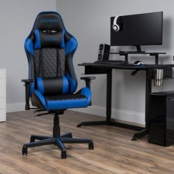RESPAWN 100 Racing Style Gaming Chair in Blue - OFM RSP-100-BLU found on Bargain Bro Philippines from totally furniture for $245.97