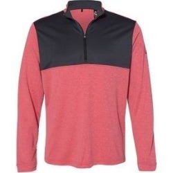Adidas Men's Lightweight Quarter Zip Pullover, Bold Colors (S - Power Red)(polyester, Solid) found on Bargain Bro from Overstock for USD $41.41
