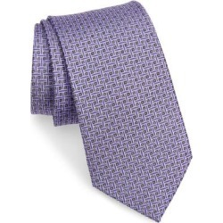 Geometric Pattern Silk Tie - Purple - Nordstrom Ties found on Bargain Bro India from lyst.com for $80.00