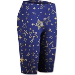 UDEAR Women's Active Shorts Print - Blue & Gold Star Bike Shorts - Women & Plus found on Bargain Bro Philippines from zulily.com for $12.99