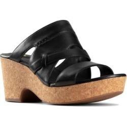 Clarks Women's Sandals Black - Black Maritsa Strap Leather Sandal - Women found on Bargain Bro from zulily.com for USD $22.79