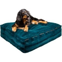 Bessie + Barnie Luxury Extra Plush Faux Fur Classy Plain Print Rectangle Dog & Cat Bed, Wonderland, Medium found on Bargain Bro from Chewy.com for USD $98.31