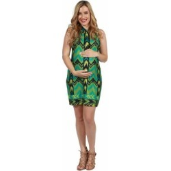 24seven Comfort Apparel Green Sleeveless Maternity Mini Dress With Hoodie found on Bargain Bro Philippines from Overstock for $29.99