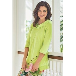 Women's Chrissie Tunic Top by Soft Surroundings, in Lime Light size XS (2-4)