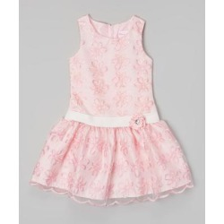 Nannette Kids Girls' Special Occasion Dresses PINK - Pink & White Flower Dress - Girls found on Bargain Bro Philippines from zulily.com for $19.99