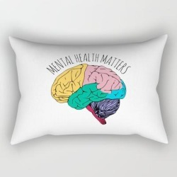 Rectangular Pillow | Mental Health Matters by Madedesigns - Small (17