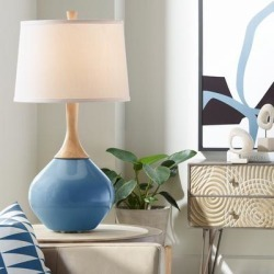 Regatta Blue Wexler Table Lamp found on Bargain Bro Philippines from LAMPS PLUS for $149.99
