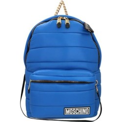 Hood Detailed Padded Backpack - Blue - Moschino Backpacks found on Bargain Bro from lyst.com for USD $430.16