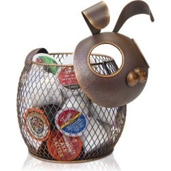 ABS K-Cup Countertop Sculpture Holder For Keurig K-Cup Coffee Pods, Tea Bags, Creamers (Bunny), Size 9.5 H x 9.5 W x 8.0 D in | Wayfair found on Bargain Bro Philippines from Wayfair for $84.99