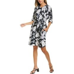 Natori Fluid Crepe Dress (16), Women's, Black, Josie Natori(polyester) found on Bargain Bro Philippines from Overstock for $83.99