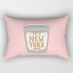 Rectangular Pillow | New York Mood by Sagepizza - Small (17