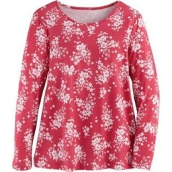 Women's Plus Long-Sleeve Parfait Tee, Cabbage Rose Floral XL found on Bargain Bro from Blair.com for USD $19.75