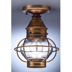 Northeast Lantern Onion 8 Inch 1 Light Outdoor Flush Mount - 2514-DAB-MED-CLR found on Bargain Bro from Capitol Lighting for USD $317.83