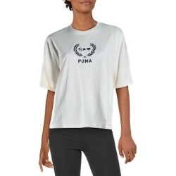 Puma Womens T-Shirt Workout Yoga - Whisper White - S found on Bargain Bro from Overstock for USD $13.37