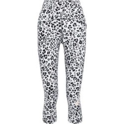 Cropped Leopard-print Stretch Leggings Animal Print - Blue - Adidas By Stella McCartney Pants found on Bargain Bro from lyst.com for USD $45.60