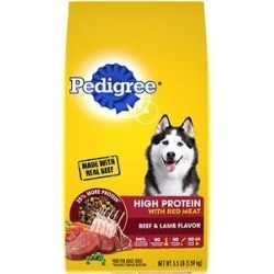 Pedigree High Protein Beef & Lamb Flavor Adult Dry Dog Food, 3.5-lb bag