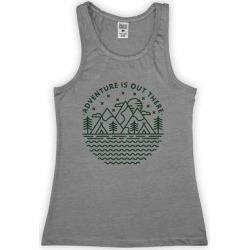 Urban Smalls Girls' Tank Tops Heather - Heather Gray 'Adventure Is out There' Mountains Racerback Tank - Toddler & Girls found on Bargain Bro from zulily.com for USD $9.11