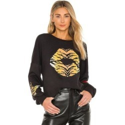 Sierra Tiger Lip Sweatshirt - Black - Lauren Moshi Sweats found on Bargain Bro India from lyst.com for $165.00