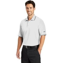 Nike Men's DRI-FIT Classic Tipped Polo (2XL - White)(knit, embroidered) found on Bargain Bro from Overstock for USD $41.03