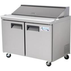 "Avantco APT-48-HC 48"" 2 Door Refrigerated Sandwich Prep Table"
