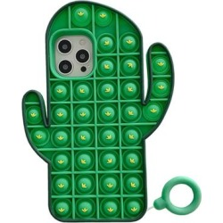 Aheadife Cellular Phone Cases Green - Green Cactus Bubble Sensory Silicone Case for iPhone found on Bargain Bro Philippines from zulily.com for $9.99