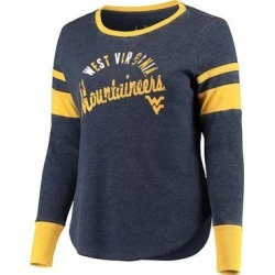 Touch by Alyssa Milano Women's Tee Shirts Navy - West Virginia Mountaineers Lightweight Thermal Long-Sleeve Tee - Plus found on Bargain Bro India from zulily.com for $38.99