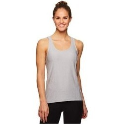 Reebok Womens Marled Jersey Racerback Tank Top (Gray - L), Women's found on Bargain Bro India from Overstock for $15.01