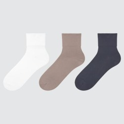 UNIQLO Women's Tapered Crew Socks (3 Pairs), Off White, 25-27cm found on Bargain Bro Philippines from Uniqlo for $12.90
